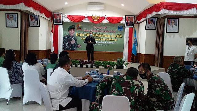 Danrem 032/Wirabraja Berkunjung ke Mentawai. Bupati Harap TNI Bantu Percepatan Pembangunan di Mentaw